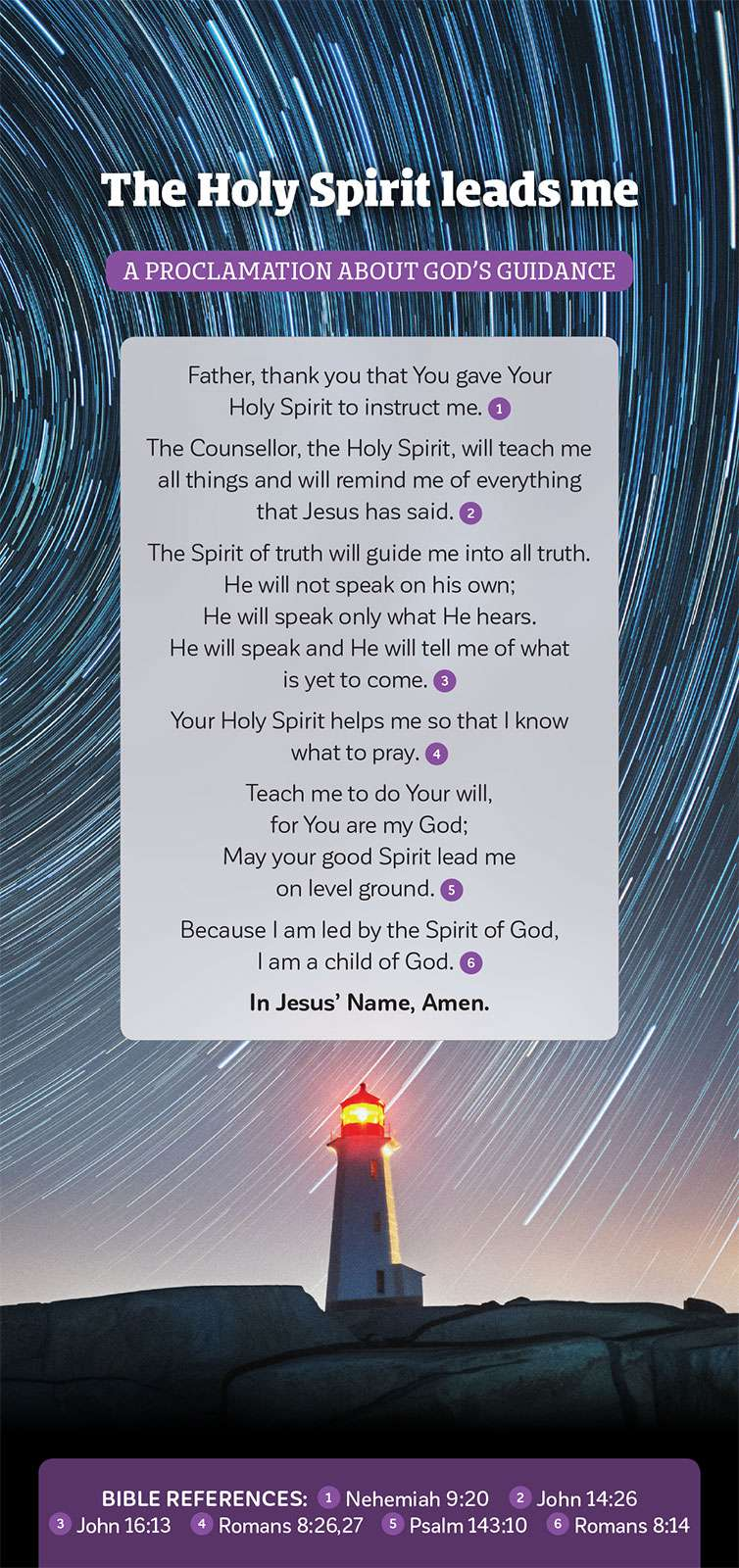 Proclamation of The Holy Spirit Leads me