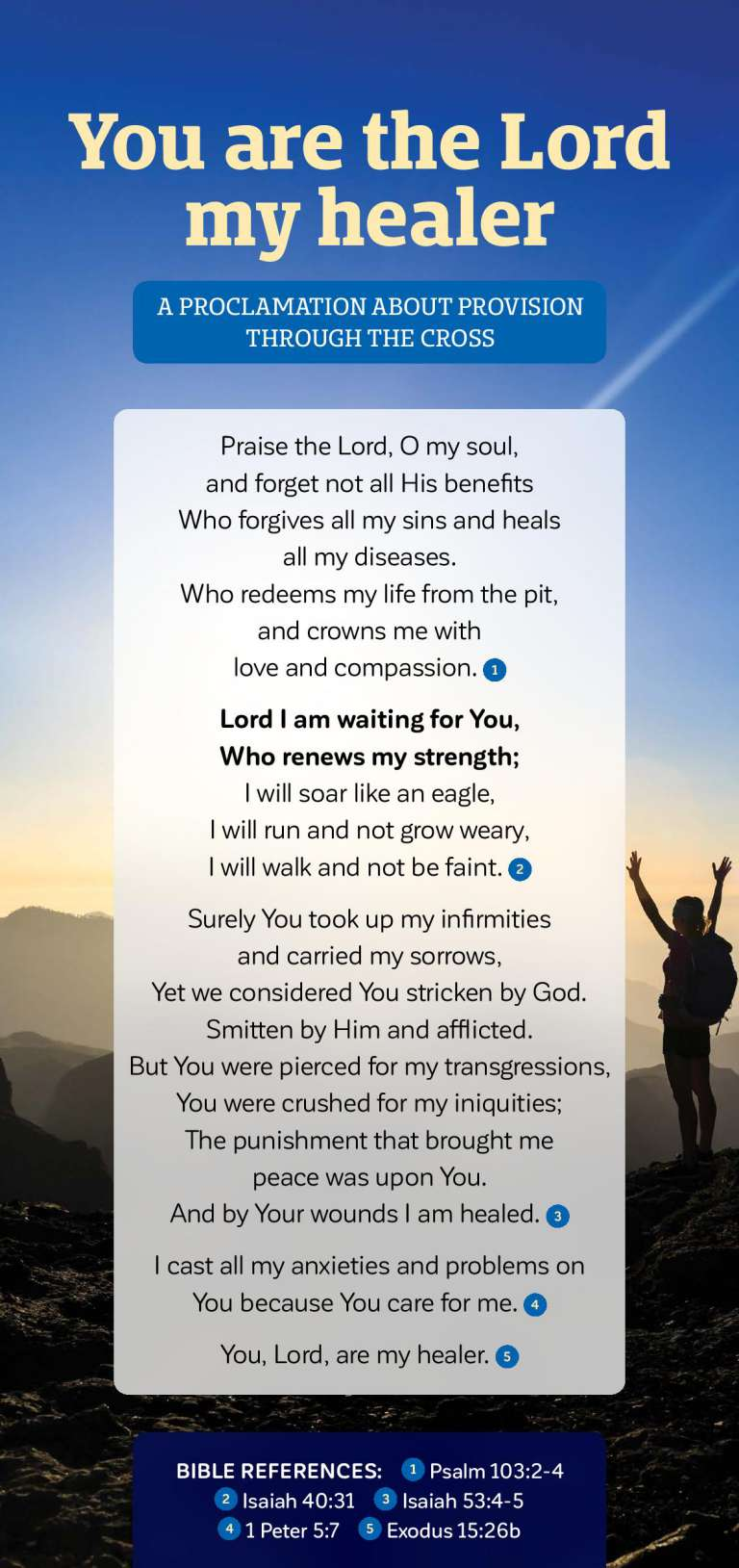 Proclamation - The Lord my Healer