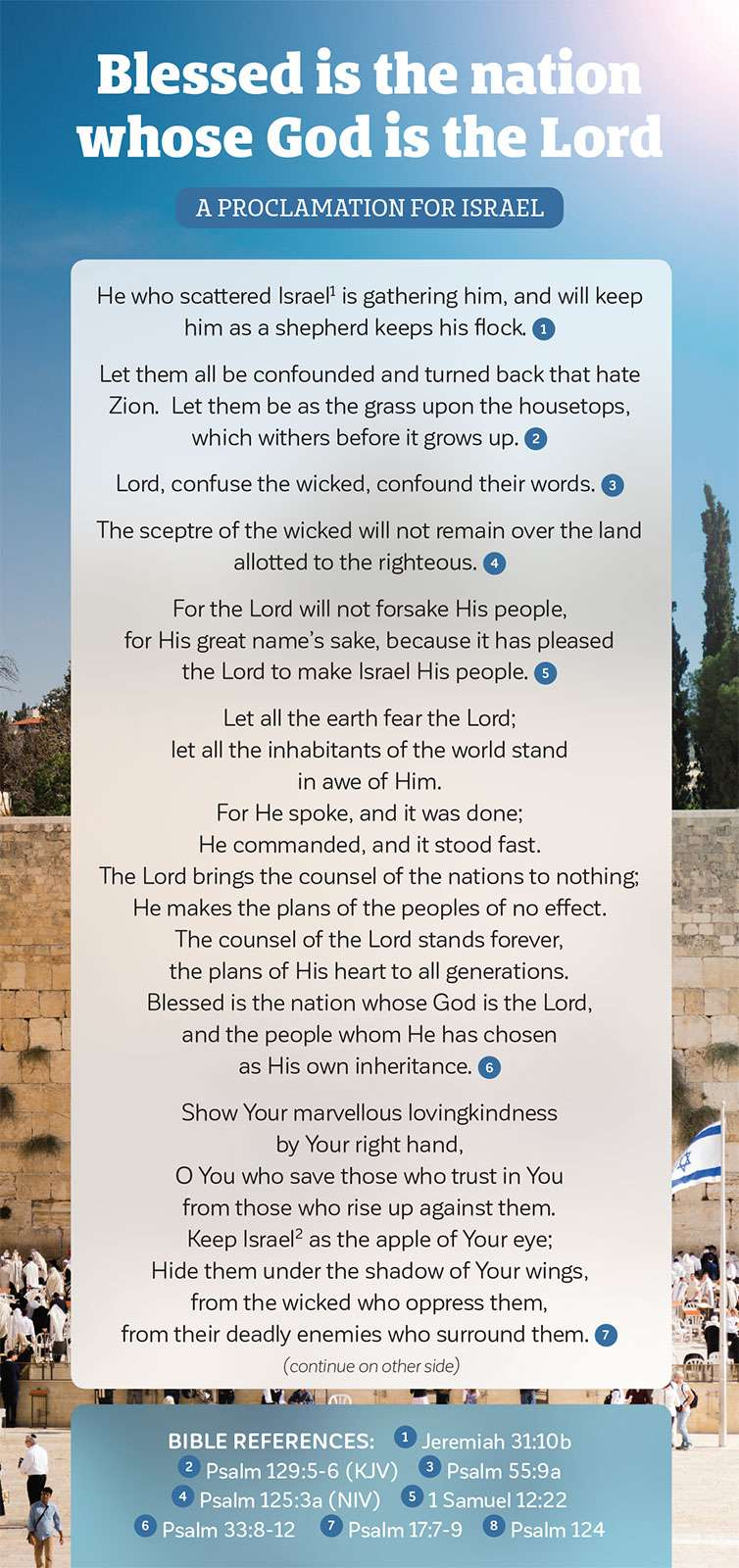 A Proclamation For Israel - Blessed is the nation whose God is the Lord