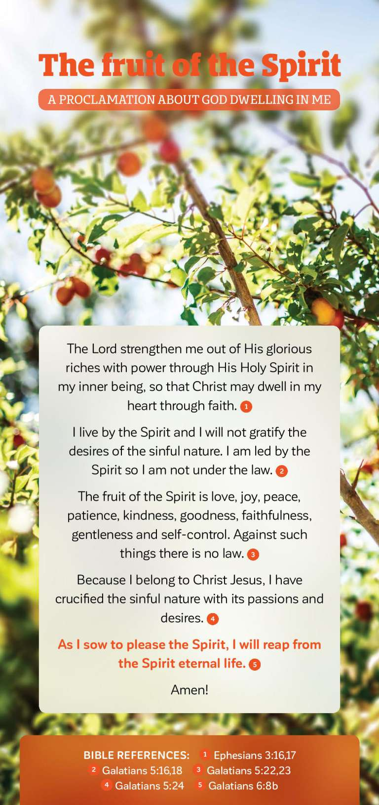Proclamation - The Fruit of the Spirit