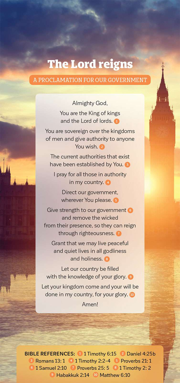 Proclamation card The Lord Reigns