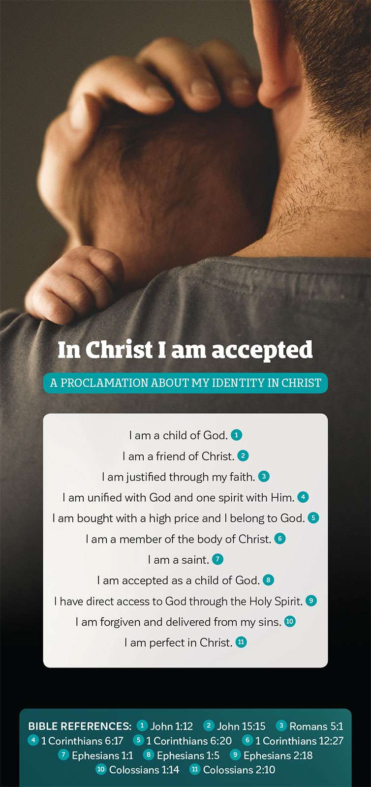 Proclamation of In Christ I am accepted