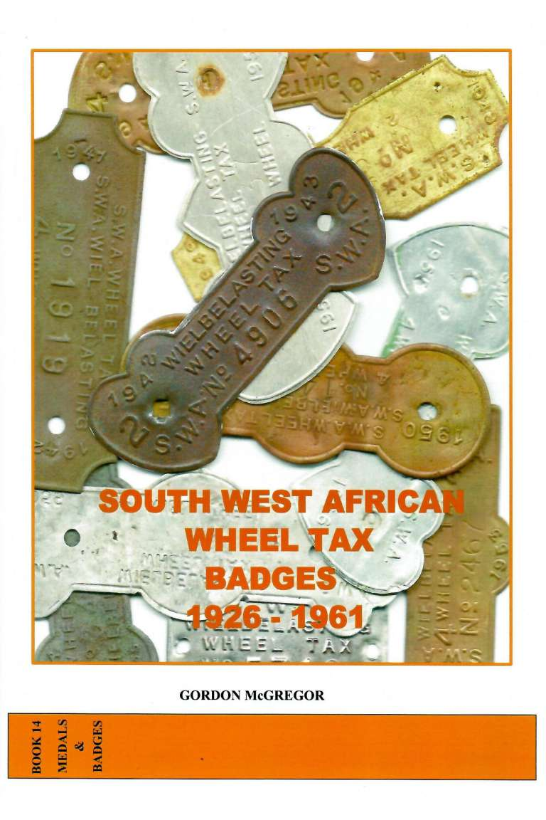 South West African Wheel Tax Badges Front