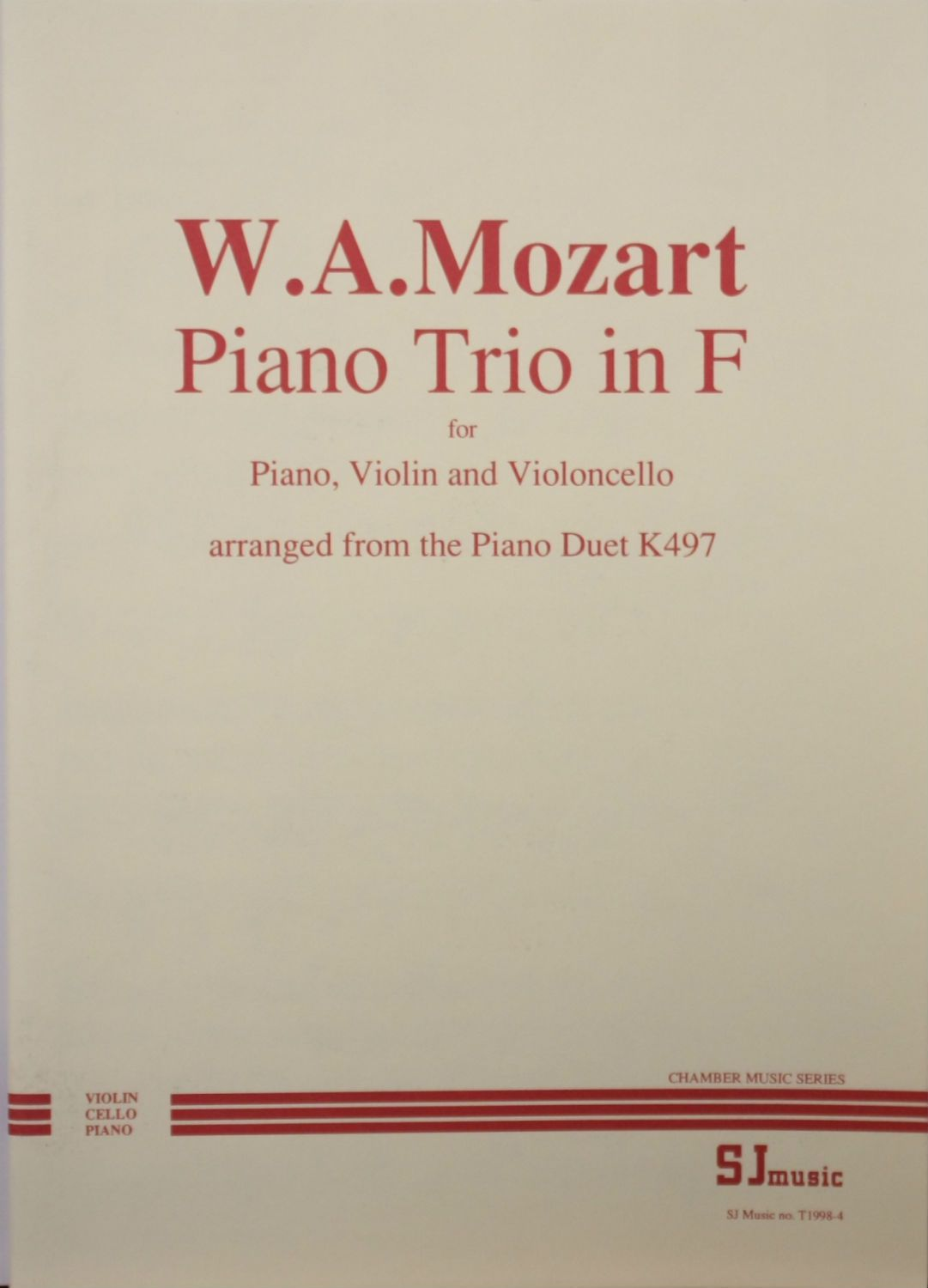 Mozart: Piano Trio in F, from duet K497