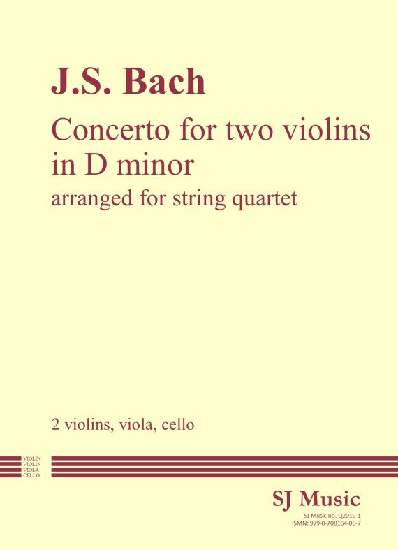 Bach Double Concerto cover