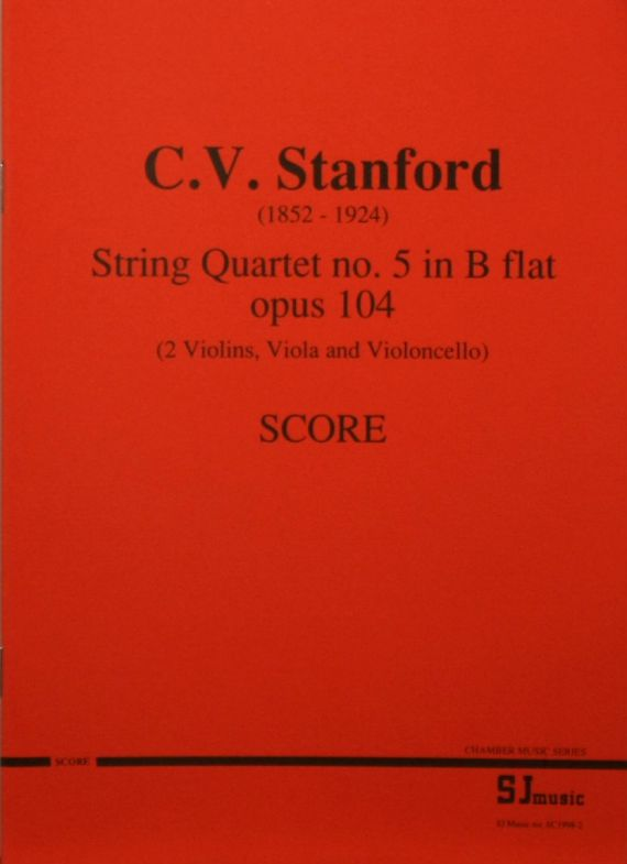 Stanford quartet score - cover