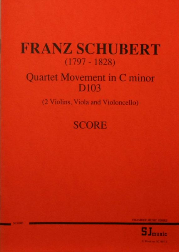 Schubert quartet score - cover