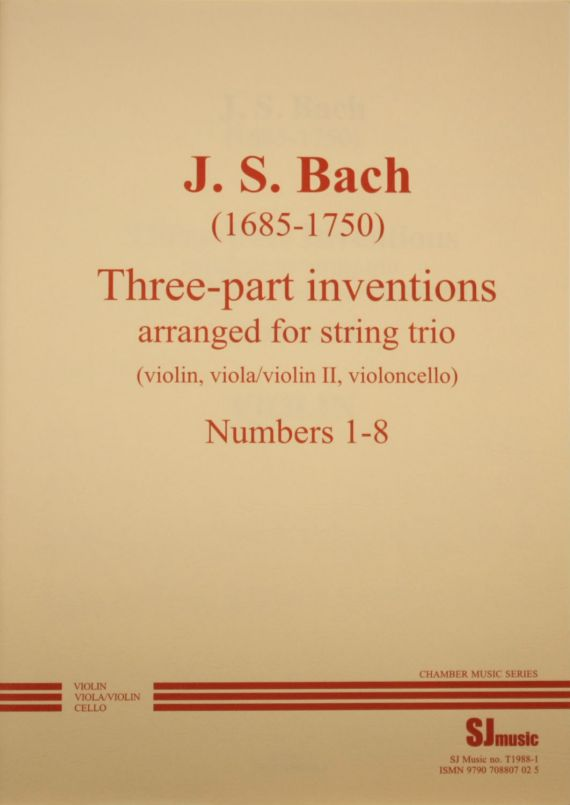 Bach inventions 1-8 - cover