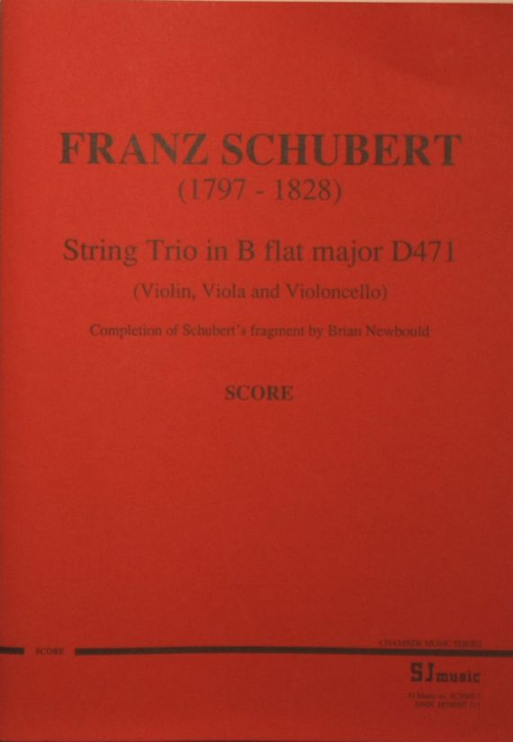Schubert trio score -cover