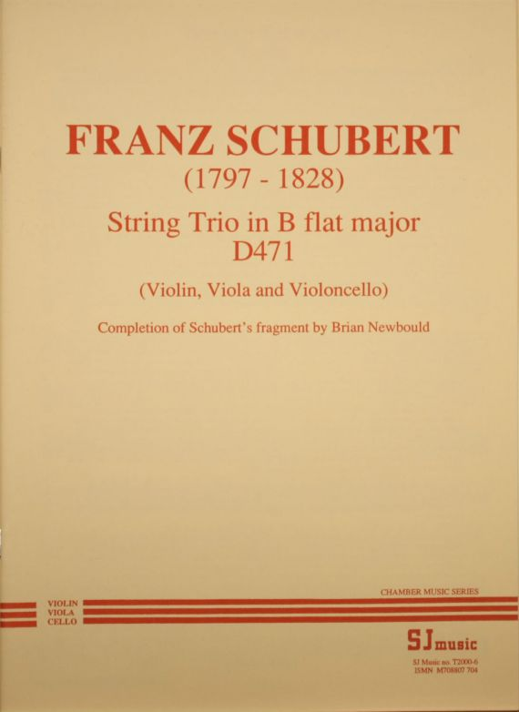 Schubert trio -cover